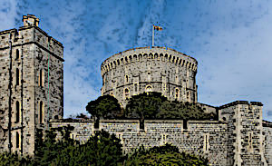 The Round Tower at Windsor Castle in England