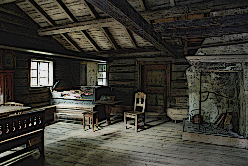 Medieval Painting Indoor House