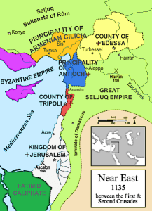 The Second Crusade - Map of 2nd Crusade
