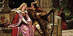 Courtly Love often took place in a Garden Setting