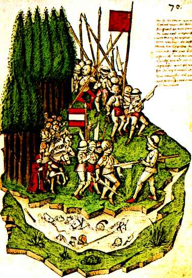 Swiss mercenaries during the The Battle of Mogarten