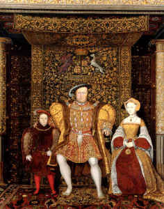 King Henry VIII with family