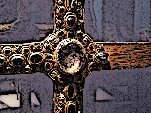 Medieval Jewelled Cross - Medieval Jewelry