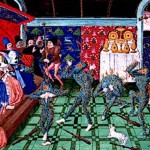 Medieval Dancers entertaining royalty