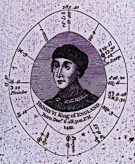 Henry VI Medieval KIng of England Astrological Chart