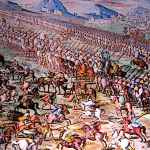 Medieval Foot soldiers and cavalry