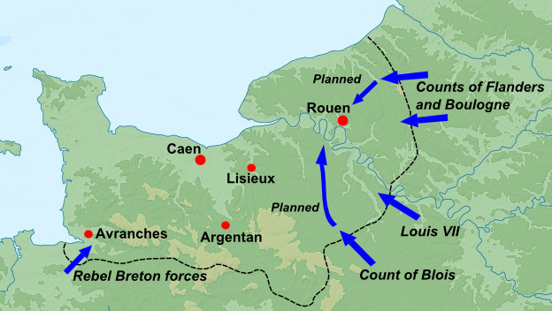 Medieval Kings The Great Revolt Normandy Map