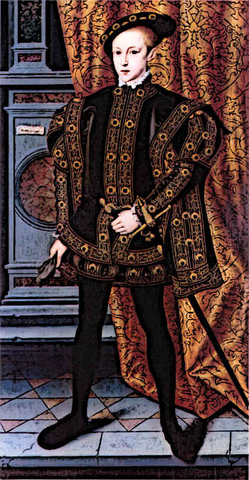 Medieval Kings - King Edward VI in Ceremonial Costume
