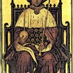 Medieval KIng Richard II on throne