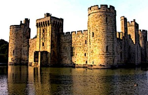 Bodiam Castle in medieval England