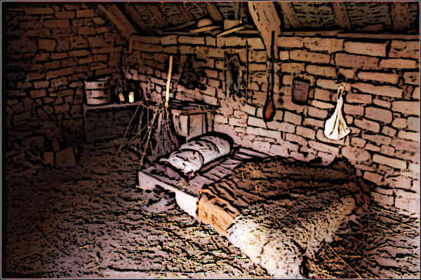 medieval serfdom peasants bed picture
