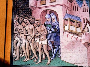 Albigensian-Crusade-Cathars-being-expelled-from-Carcassonne-in-1209