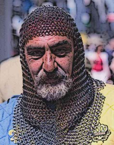 German-Knight-Wearing-Coif-Chainmail-to-Protect-Head-and-Neck