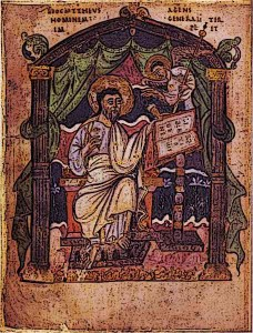 Early-Medieval-KIngs-Coronation-Gospels-King-Athelstan-Saint-Matthew