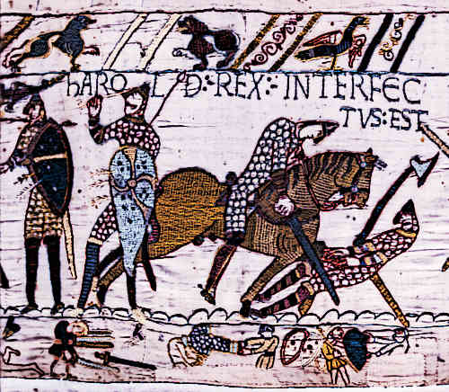 Bayeux Tapestry - Scene 57 - Death of KIng Harold