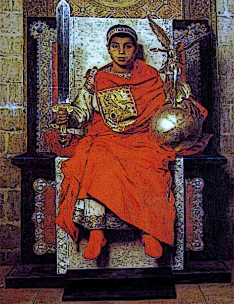 Example of Byzantine Clothing as worn by The Byzantine Emperor Honorius