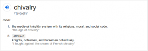 Chivarly-Defintion-According-to-Google
