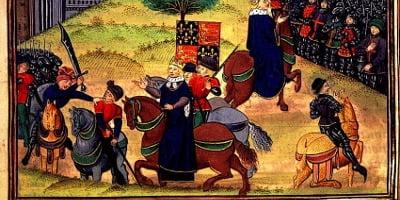 Peasants revolt - the death of Wat Tyler peasant leader