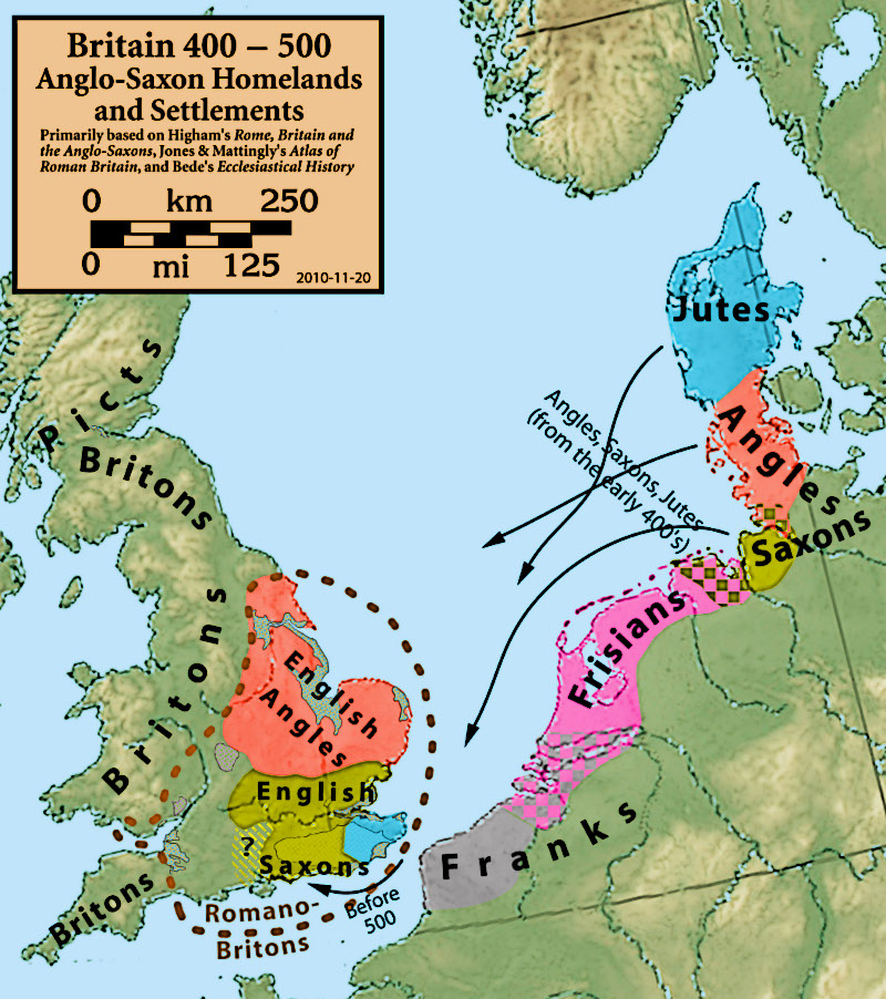 Anglo-Saxon-origins-Settlements-Map