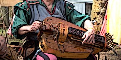 Medieval stringed instruments Hurdy-Gurdy