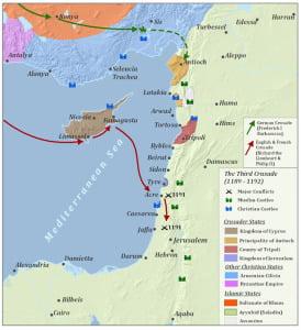 Third Crusades Map