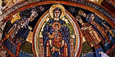 Christ and Mary Vesica Pisces Romanesque Art