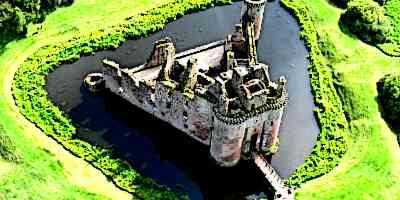 Medieval Castle Moat Ariel View - Parts of a Medieval Castle