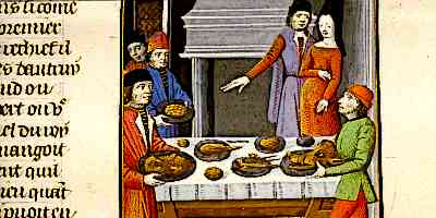 Medieval Castle Staff Cooking for the Medieval King