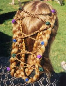 Medieval Braided Hairstyle