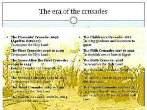 Timeline Crusades