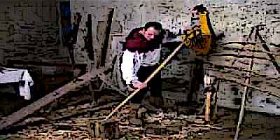Medieval Bowyer Making a Longbow