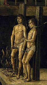 Garrotte Torture Device men standing