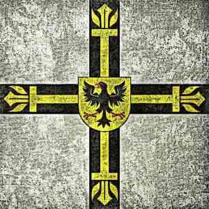 Teutonic Knights Grunge Flag