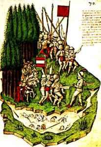 Swiss mercenaries during the The Battle of Mogarten