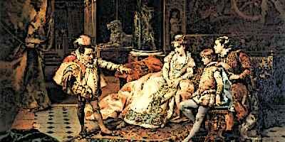Medieval Court Jester Entertains Royals