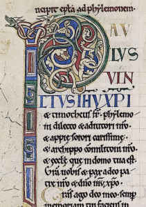 Medieval Calligraphy Rochester Bible