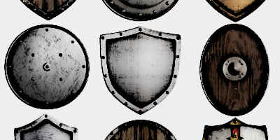 Different medieval shield Designs