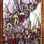 Swiss Mercenaries soldiers marching
