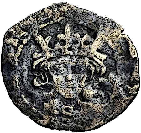 King Richard III face on a medieval coin