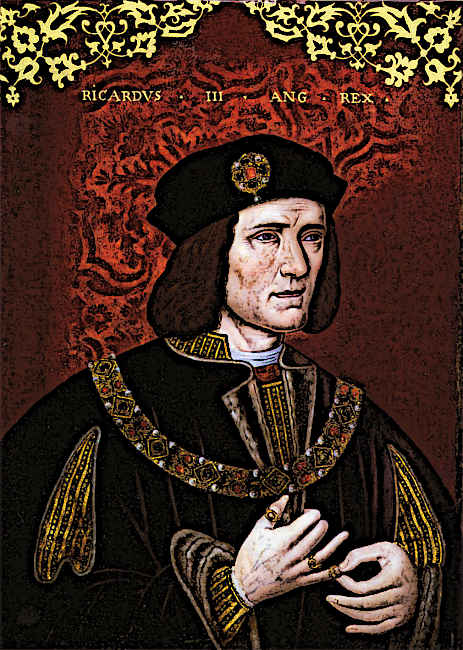 King Richard III portrait painting of medieval king