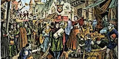 Medieval Fair In Medieval Town