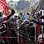 Medieval Housecarls in battle