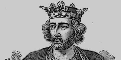Medieval King Edward I Illustration Portrait