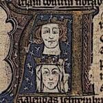 Medieval King Edward I and Eleanor image