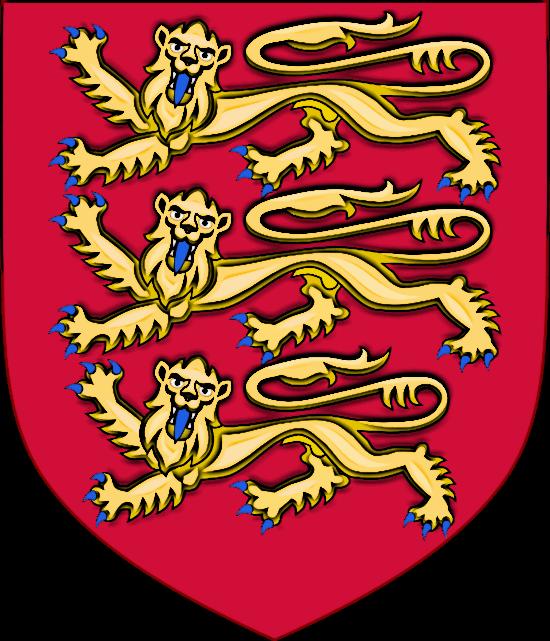 Medieval King Edward II Royal Arms of England