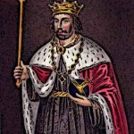 Medieval King Edward II in Ceremonial dress