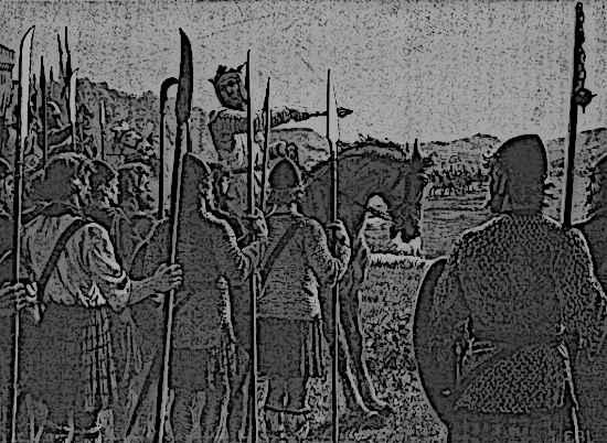 Battle of Bannockburn King Edward II and Rober the Bruce