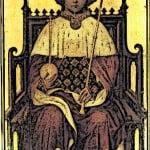 Medieval KIng Richard II on throne