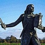 Statue of Medieval King Edward I