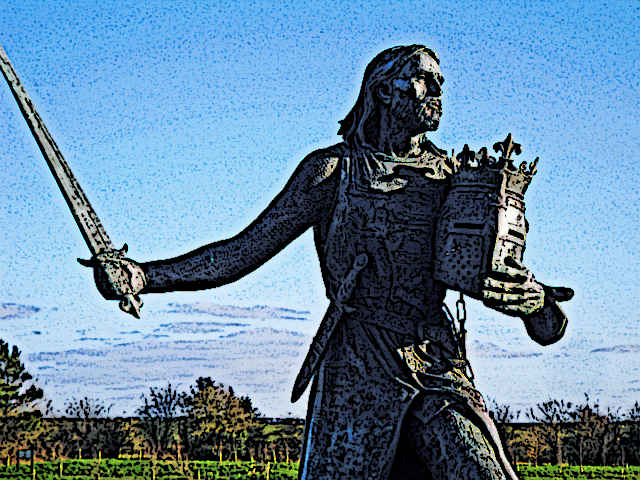 Statue of Medieval King Edward I